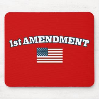 1st Amendment American Flag Mouse Pad