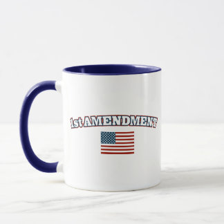 1st Amendment American Flag Mug