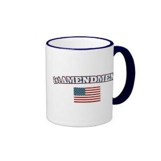 1st Amendment American Flag Mug