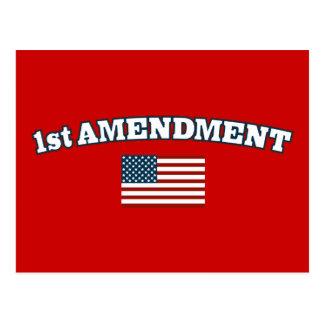1st Amendment American Flag Postcard