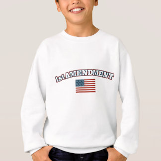 1st Amendment American Flag Sweatshirt