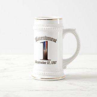 1st Amendment Beer Stein