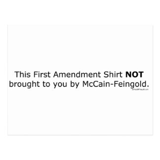 1st Amendment NOT Brought by McCain/Feingold Postcard