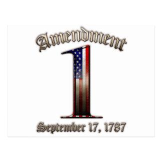 1st Amendment Postcard