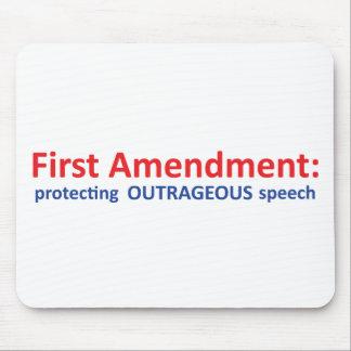 1st Amendment: protecting speech. Mousepad