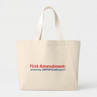 1st Amendment: protecting unpopular speech. Large Tote Bag