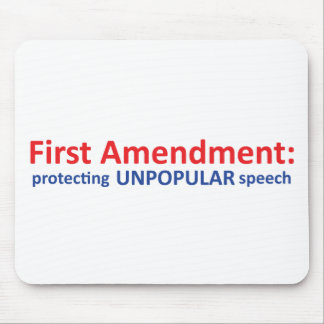 1st Amendment: protecting unpopular speech. Mousepad