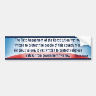 1st Amendment Reason (Reagan) Bumper Sticker