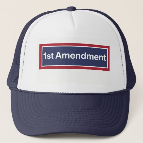 1st Amendment Trucker Hat