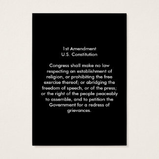 1st Amendment - United States Constitution Business Card