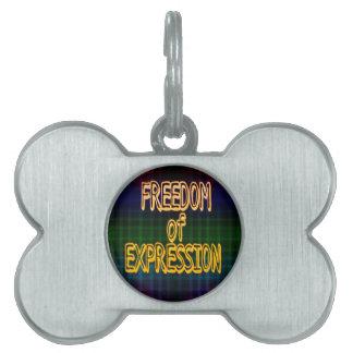 1st Ammendment Freedom of Expression Plaid Pattern Pet ID Tag