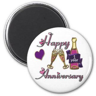1st. Anniversary 2 Inch Round Magnet