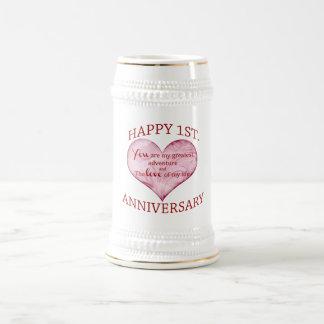 1st Anniversary Beer Stein