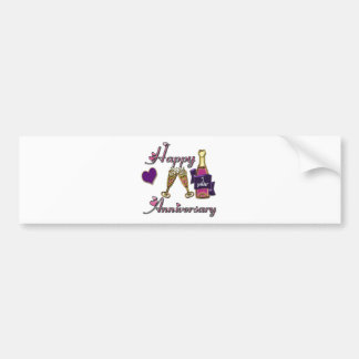 1st. Anniversary Bumper Sticker