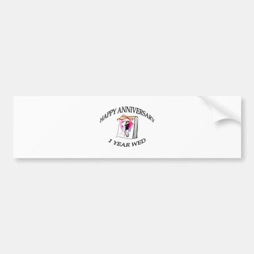 1st ANNIVERSARY Bumper Sticker