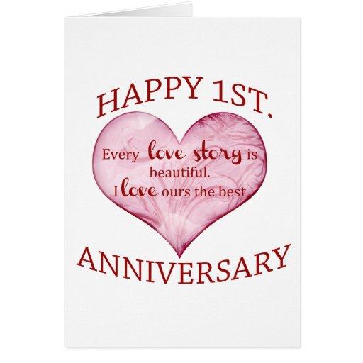 St anniversary card zazzle