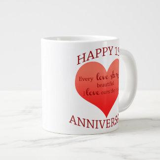 1st. Anniversary Giant Coffee Mug