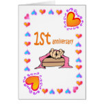 1st Anniversary Greeting Card
