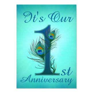 1st Anniversary invitation cards 1