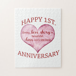 1st. Anniversary Jigsaw Puzzle