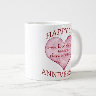 1st. Anniversary Large Coffee Mug