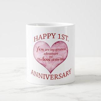 1st Anniversary Large Coffee Mug