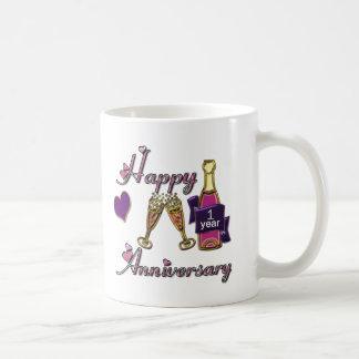 1st. Anniversary Coffee Mugs