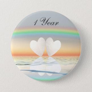 1st Anniversary Paper Hearts Button