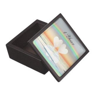 1st Anniversary Paper Hearts Jewelry Box