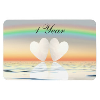 1st Anniversary Paper Hearts Magnet