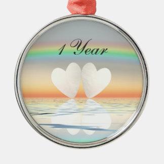 1st Anniversary Paper Hearts Ornaments