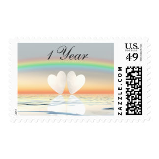 1st Anniversary Paper Hearts Postage