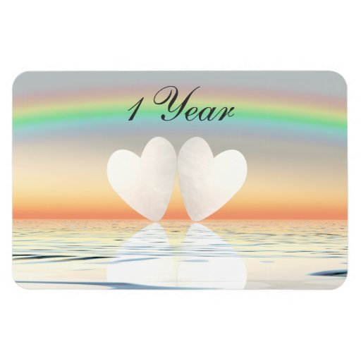 1st Anniversary Paper Hearts Magnets