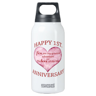 1st Anniversary Thermos Water Bottle