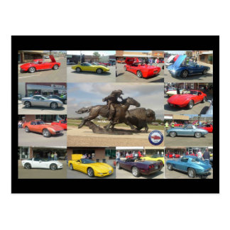 1st Annual Buffalo Bill Corvette Show Postcard