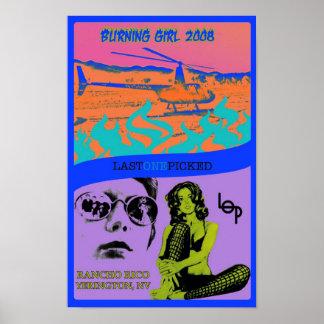 1st Annual Burning Girl 2008 Poster