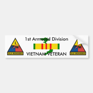 1st Armored Div bumper sticker Car Bumper Sticker