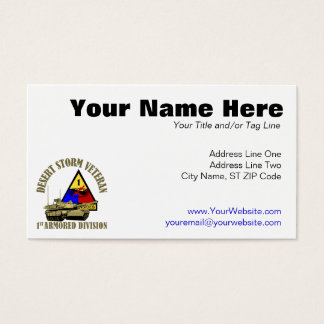 1st Armored Division [1st AD] Business Card