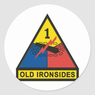 1st Armored Division Classic Round Sticker