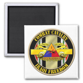 1st Armored Division OIF Veteran 2 Inch Square Magnet