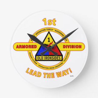 """1ST ARMORED DIVISION """"OLD IRONSIDES"""" CLOCK"""