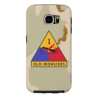 """1st Armored Division """"Old Ironsides"""" Desert Camo Samsung Galaxy S6 Case"""