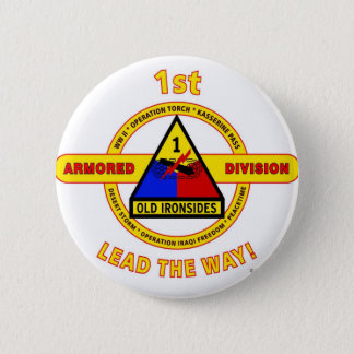 "1ST ARMORED DIVISION ""OLD IRONSIDES"" PINBACK BUTTON"