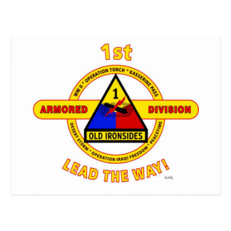 1ST ARMORED DIVISION OLD IRONSIDES POSTCARDS