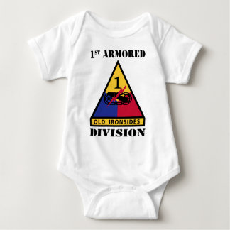 1st Armored Division W/Text Baby Bodysuit