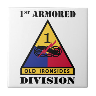 1st Armored Division W/Text Tile