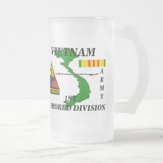 1st Armored Vietnam Frosted Mug