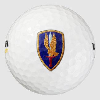 1st Aviation Brigade Golden Hawks vietnam nam war Golf Balls