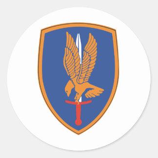 1st Aviation Brigade Round Sticker