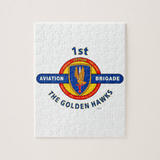 "1ST AVIATION BRIGADE VIETNAM ""GOLDEN HAWKS"" JIGSAW PUZZLE"